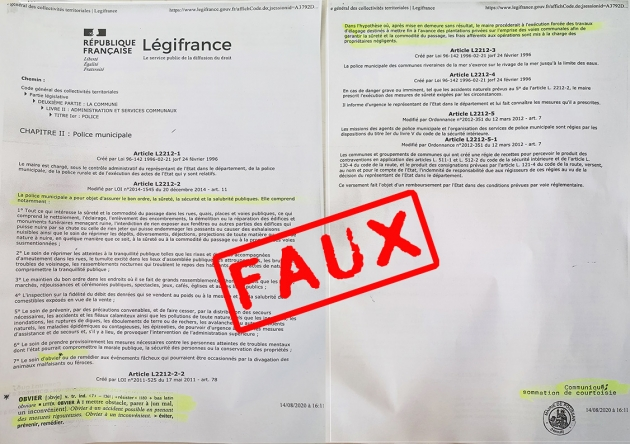 Courrier elag faux