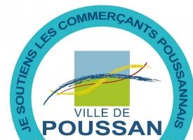 # Je soutiens tous les commerces Poussannais #