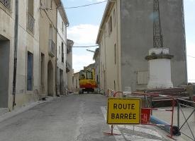 Travaux rue des Horts